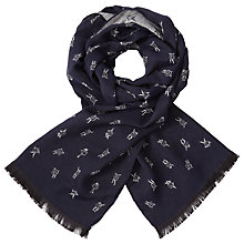 Buy Paul Smith Dancing Dice Scarf, Navy Online at johnlewis.com