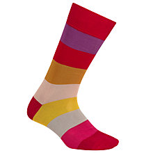 Buy Paul Smith Block Pattern Cool Socks, One Size Online at johnlewis.com