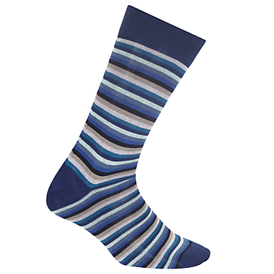Paul Smith Odd Stripe Socks, One Size, Blue
