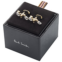 Buy Paul Smith Bicycle Cufflinks, Silver/Gold Online at johnlewis.com
