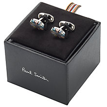 Buy Paul Smith Multi Stripe Cufflinks, Silver/Multi Online at johnlewis.com