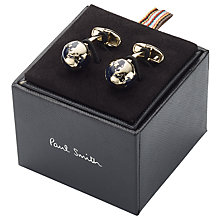Buy Paul Smith Globe Cufflinks, Black/Gold Online at johnlewis.com