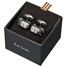 Buy Paul Smith 3D Signature Stripe Roof Mini Car Cufflinks, Black/Multi Online at johnlewis.com