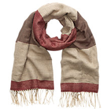 Buy Phase Eight Elly Colour Block Scarf, Camel Online at johnlewis.com