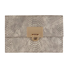 Buy Coast Filippa Snake Skin Clutch, Grey Online at johnlewis.com
