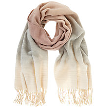 Buy Mint Velvet Winter Ombre Scarf, Pale Pink Blush Online at johnlewis.com
