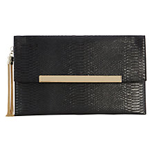 Buy Coast Maya Snake Skin Clutch Bag, Black Online at johnlewis.com