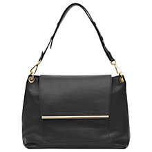 Buy Reiss Ledbury Large Shoulder Bag, Black Online at johnlewis.com