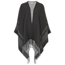 Buy Betty & Co. Fringed Poncho, Grey/Silver Online at johnlewis.com