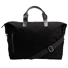 Buy John Lewis Kingston Canvas Holdall, Black Online at johnlewis.com