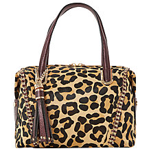 Buy Dune Dowler Mixed Material Bowling Bag, Leopard Online at johnlewis.com