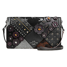 Buy Coach Embellished Foldover Across Body Bag, Black Online at johnlewis.com