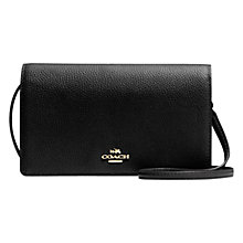 Buy Coach Foldover Across Body Bag, Black Online at johnlewis.com