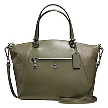 Buy Coach Prairie Leather Satchel, Surplus Online at johnlewis.com
