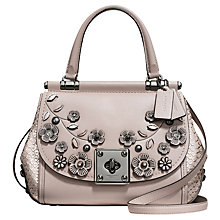 Buy Coach Drifter Leather Top Handle Shoulder Bag, Grey Birch Online at johnlewis.com