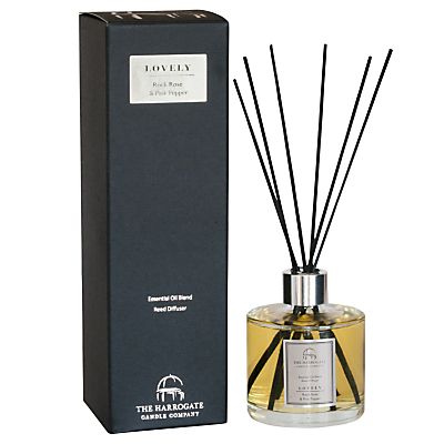 Image of The Harrogate Candle Company Lovely Rock Rose and Pink Pepper Diffuser, 200ml