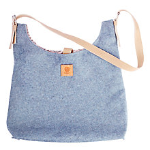 Buy Allsorted Butterfly Tree Wool Handbag With Buckle Strap, Teal Online at johnlewis.com