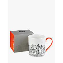 Buy John Lewis Sketch London Boxed Mug Online at johnlewis.com