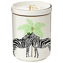 Buy Fenella Smith Zebra and Palm Tree Candle with Lid Online at johnlewis.com