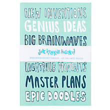 Buy Jane Katherine Houghton A5 Brainwaves Notebooks Online at johnlewis.com