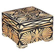 Buy John Lewis Fusion Wooden Inlay Trinket Box, Black and Gold Online at johnlewis.com