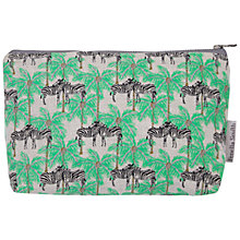 Buy Fenella Smith Zebra and Palm Tree Make-up Bag, Small Online at johnlewis.com