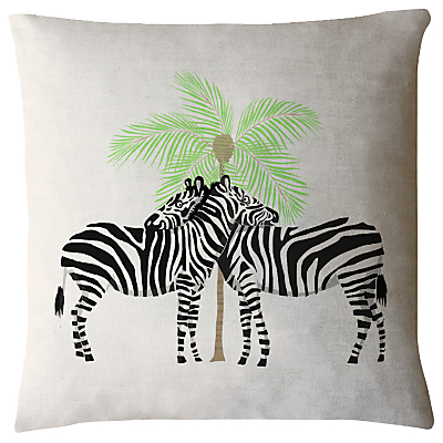 Image of Fenella Smith Zebra and Palm Tree Cushion