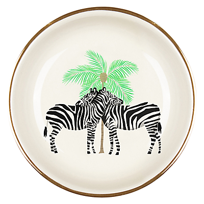 Image of Fenella Smith Zebra and Palm Tree Ring Plate