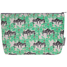 Buy Fenella Smith Zebra and Palm Tree Make-up Bag Online at johnlewis.com