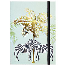 Buy Fenella Smith Zebra Palm Tree Print Notebook Online at johnlewis.com