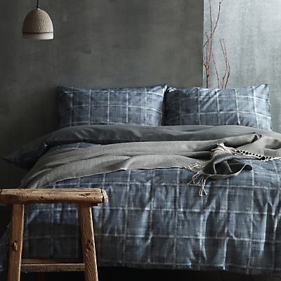 cloth & clay Nordic Nights Haze Duvet Cover and Pillowcase Set