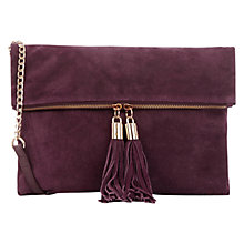 Buy Oasis Suede Freda Satchel, Burgundy Online at johnlewis.com
