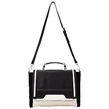 Buy Miss Selfridge Panel Tote, Black Online at johnlewis.com