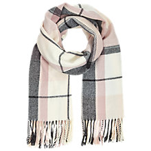 Buy Miss Selfridge Large Check Scarf. Pink Online at johnlewis.com