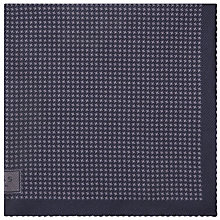 Buy Reiss Walker Houndstooth Silk Pocket Square, Charcoal Online at johnlewis.com