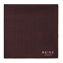 Buy Reiss Wasp Wool Pocket SquareBurgundy Online at johnlewis.com