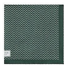 Buy Reiss Andreas Zig-Zag Silk Pocket Square Online at johnlewis.com