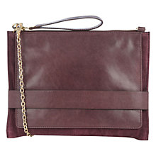 Buy Oasis Leather Cross-Body Clutch Bag, Burgundy Online at johnlewis.com