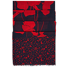 Buy Hobbs Amy Scarf, Navy Online at johnlewis.com