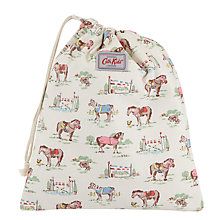 Buy Cath Kidston Children's Pony Print Drawstring Wash Bag, Cream Online at johnlewis.com