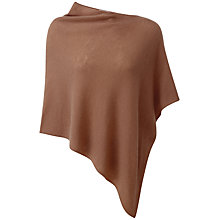 Buy Pure Collection Kelly Cashmere Poncho, Muscovado Online at johnlewis.com