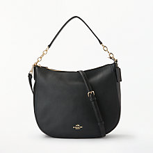 Buy Coach Chelsea Leather Shoulder Bag, Black Online at johnlewis.com