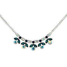 Buy Monet Rhodium Plated Glass Crystals Flower Collar, Silver Online at johnlewis.com