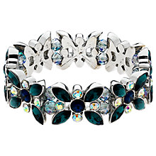 Buy Monet AB Navette and Round Cut Glass Crystal Stretch Bracelet, Multi Online at johnlewis.com
