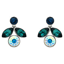 Buy Monet Rhodium Plated Glass Crystals Small Flower Earrings, Silver Online at johnlewis.com