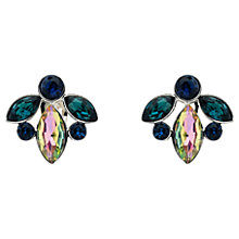 Buy Monet Rhodium Plated Glass Crystal Navette Clip-On Earrings, Silver Online at johnlewis.com