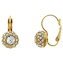 Buy Monet Pave Glass Crystal Leverback Drop Earrings Online at johnlewis.com