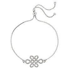 Buy Melissa Odabash Swarovski Crystal Adjustable Eternal Bracelet, Silver Online at johnlewis.com