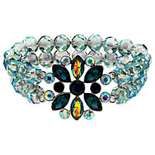 Buy Monet AB Bead and Glass Crystal Stretch Bracelet, Multi Online at johnlewis.com