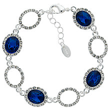 Buy Monet Glass Crystal Pave Bracelet, Silver/Blue Online at johnlewis.com